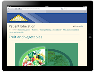 NSIC Patient Education on iPad