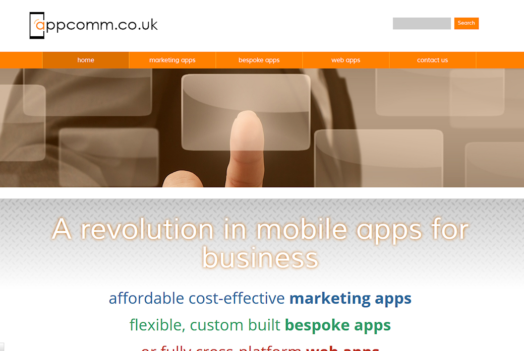 image of Appcomm site developed by Big Media