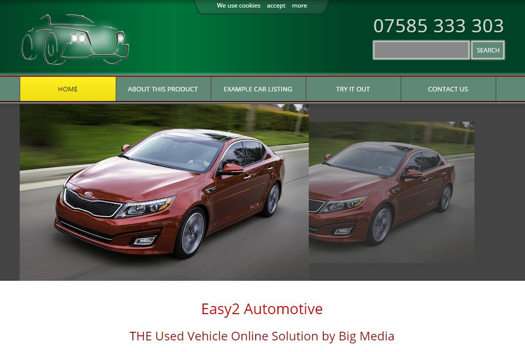 image of Easy2 Automotive reseller system developed by Big Media