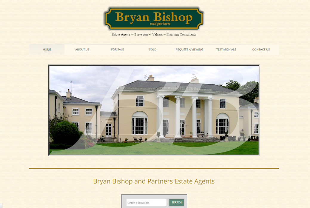 image of Bryan Bishop site developed by Big Media