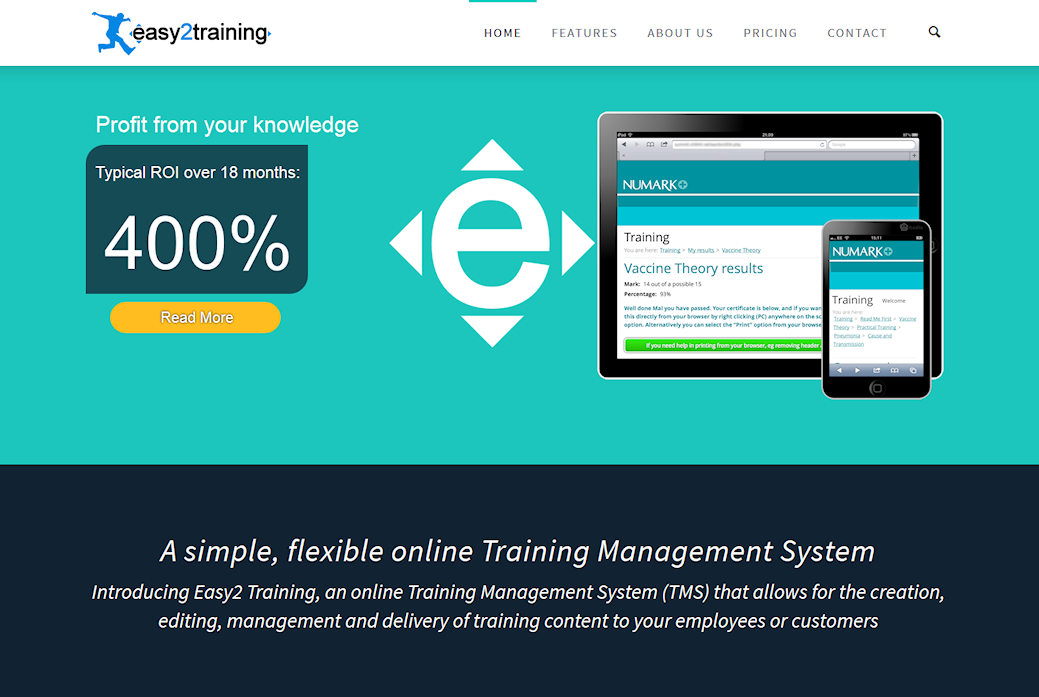image of Easy2 Training site and online training system developed by Big Media