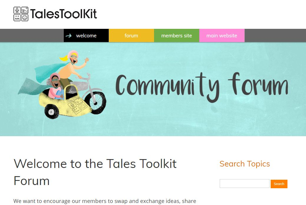 image of Tales Toolkit forum site developed by Big Media