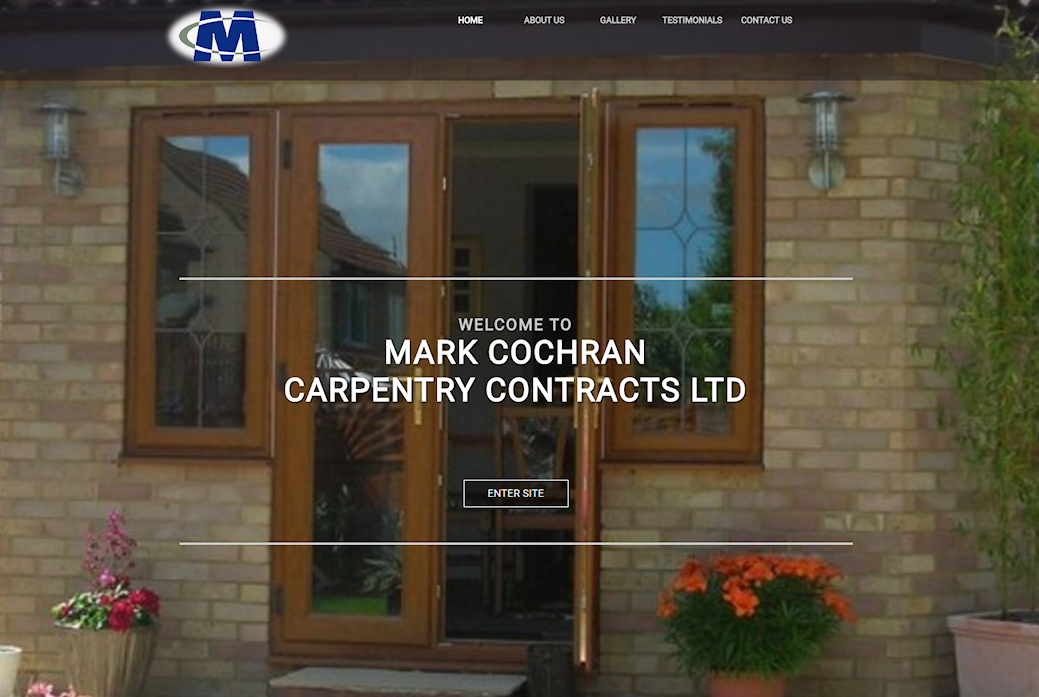 image of Mark Cochran Carpentry site developed by Big Media