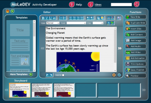 image of moledev editing screen