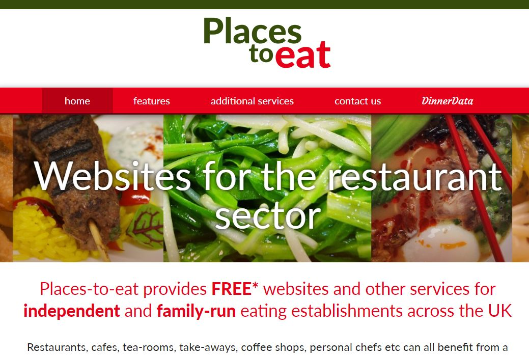 image of Places to Eat site developed by Big Media