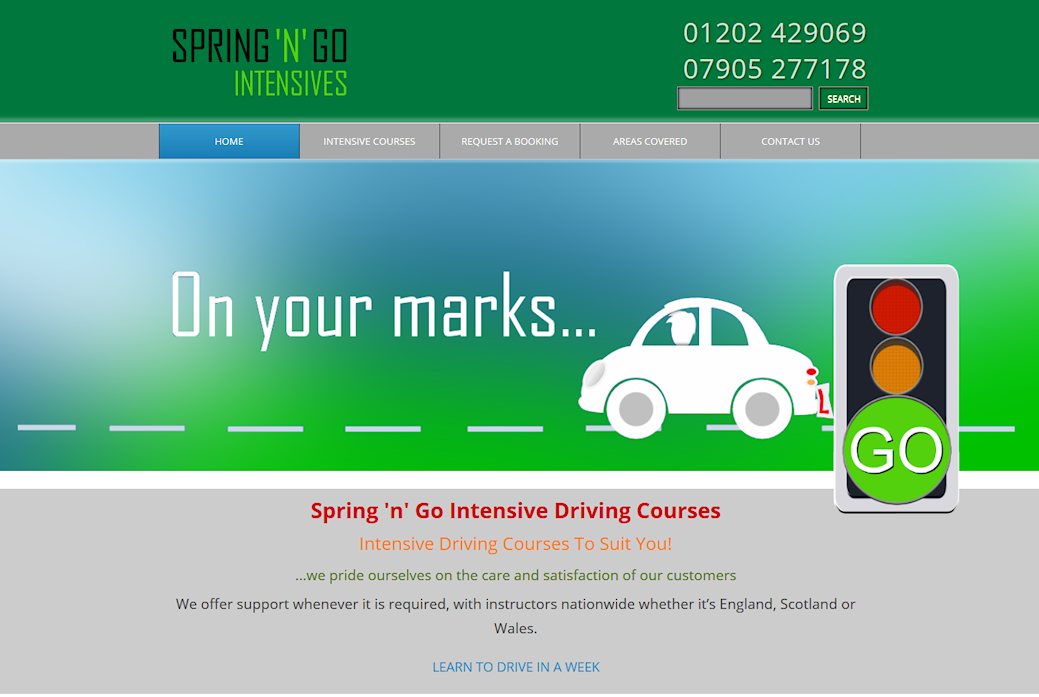 image of Spring n Go site developed by Big Media