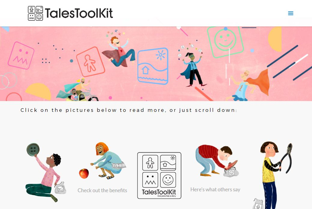 image of Tales Toolkit site developed by Big Media