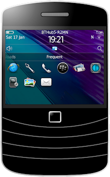 image of web app icon on blackberry mobile
