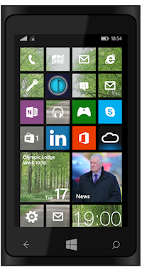 image of web app icon on windows phone