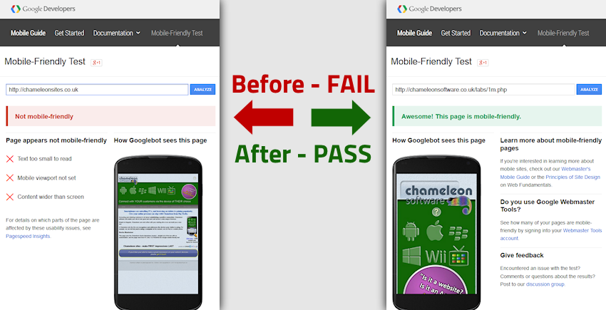 image showing fail to pass on Google test result with gecko adjuster installed