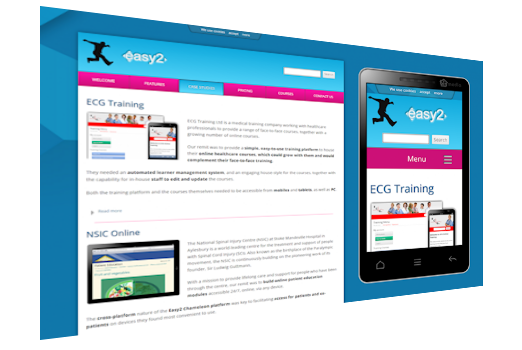 image of easy2training online training and elearning on PC and mobile