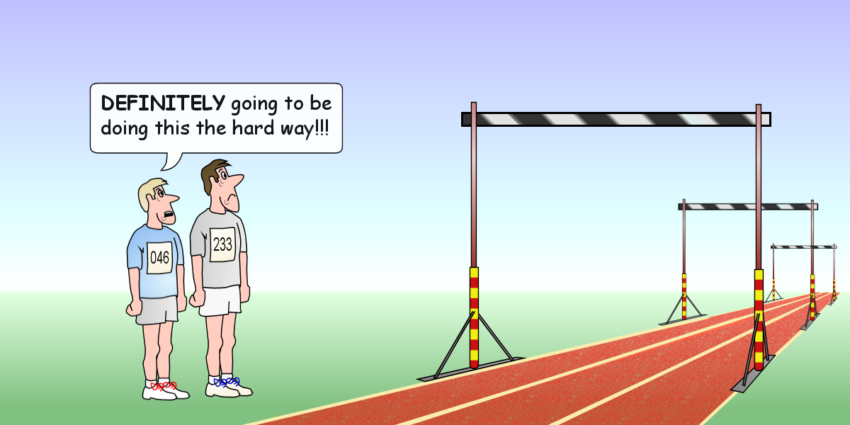 image of high jump as hurdles